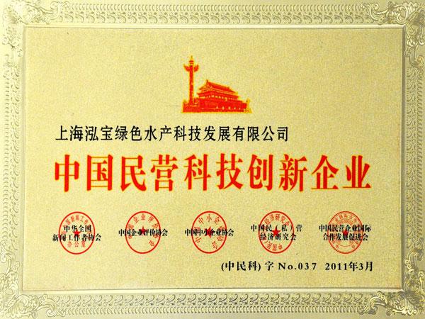 2011年中国民营科技创新企业
